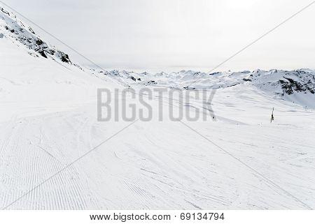 Ski Runs In Paradiski Area, France