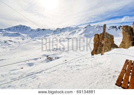 Slopes Outside The Ski Area In Paradiski, France