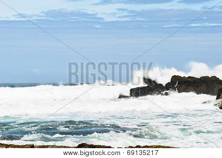 Wave Surf In Atlantic Ocean, Costa Da Morte, Spain