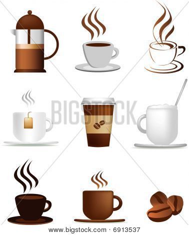 Coffee Icons Detailed