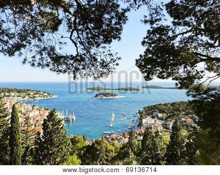 Adriatic Sea Coast Of Hvar Island In Dalmatia