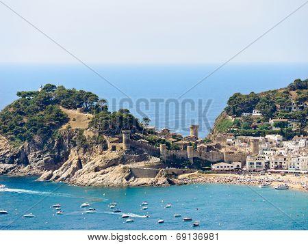 Urban Beach And Vila Vella In Town Tossa De Mar