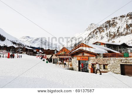 Shopping Street In Town Val D'isere, France