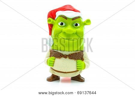 Shrek Wear A Santa Claus