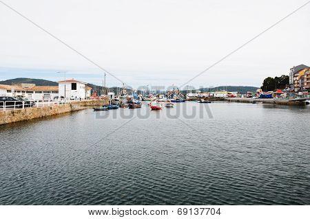 Port Of Cambados Town, Galicia, Spain