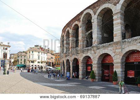 Verona Opera Arena - Amphitheatre In Verona, Italy