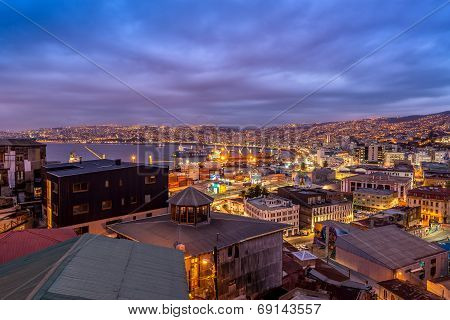 Valparaiso At Night