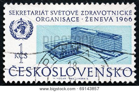 Postage Stamp Czechoslovakia 1966 Who Headquarters, Geneva
