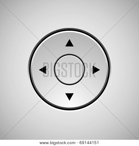 White Abstract Joystick Button Template
