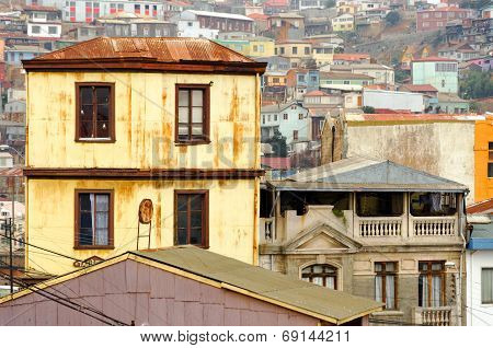 Yellow Building In Valparaiso