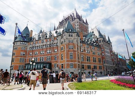 Tourist At The Chateau Frontenac