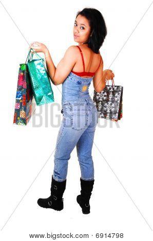 Young Woman Shopping.