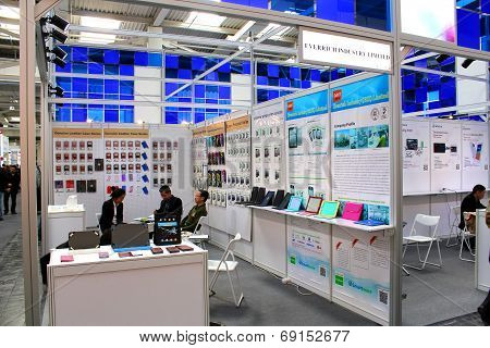 Hannover, Germany - March 13: The Stand Of Everrich Industry Limited On March 13, 2014 At Cebit Comp