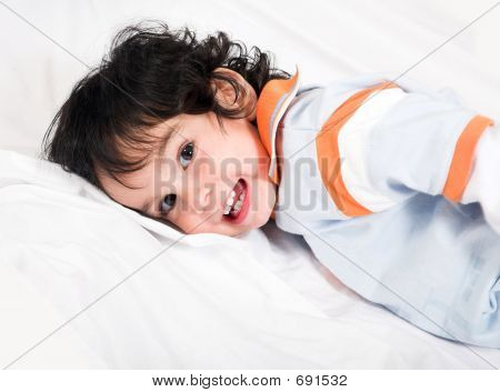 Cute Boy Lying Down