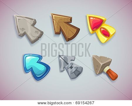 Cartoon vector arrows/cursors