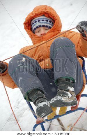 Child On Sliegh