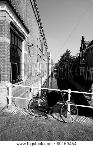 Romantic Village Scene In Netherlands