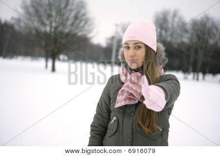winter girl. OK
