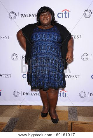 LOS ANGELES - MAR 28:  Gabourey Sidibe arrives to the Paleyfest 2014: American Horror Story COVEN  on March 28, 2014 in Hollywood, CA
