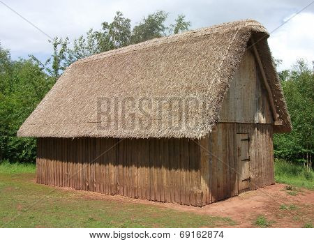 Reconstruction of Dark Ages Anglo-Saxon hall