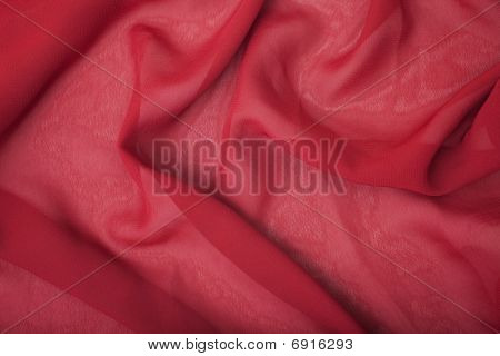 Texture Of Red Satin Silk