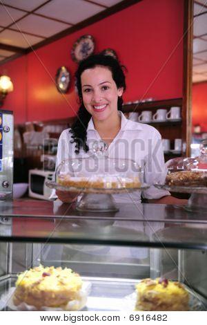 Dueño de una pequeña empresa / tienda de la torta / Cafe