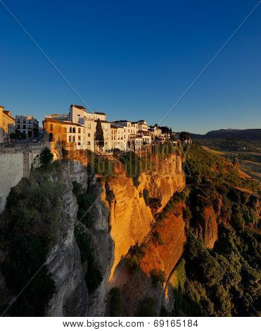 Magnificent view from the New Bridge of Ronda in Andalusia, Spain