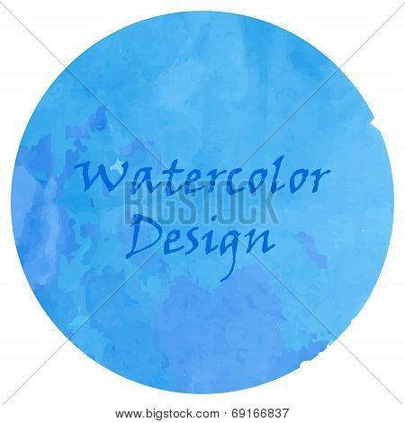 Watercolor deep blue
