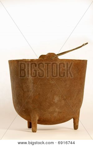 Old Iron Smelting Pot  Isolated Img_4108