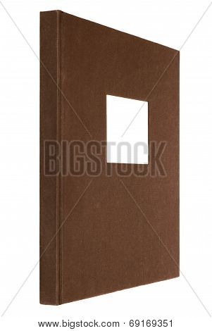brown book isolated on white
