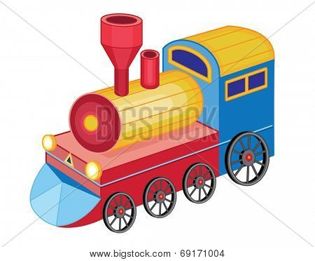 cute toy train (vector illustration)