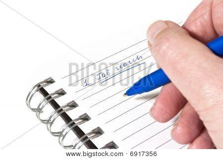 Writing Down A Job Search Plan
