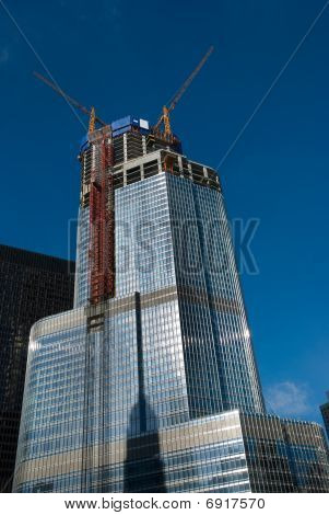 High-rise Under Construction In Downtown Chicago