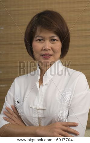 Portrait Of Mature Asian Woman