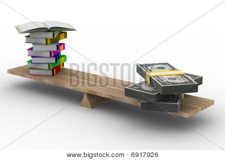Paid Training. Isolated 3D Image On White Background