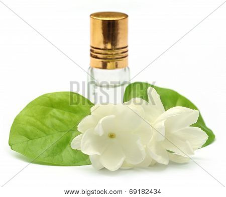 Jasmine Flower With Essence Bottle