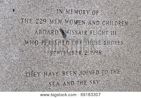 Memorial of Swissair Flight 111 crash