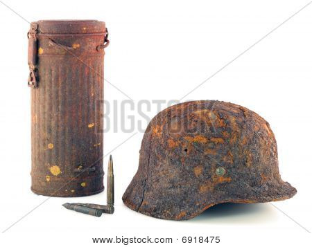 Protective Helmet And The Container For A Gas Mask