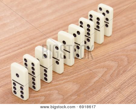 A Row From Dominoes