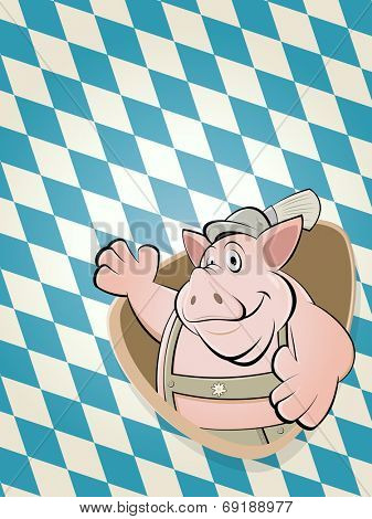 bavarian cartoon pig background