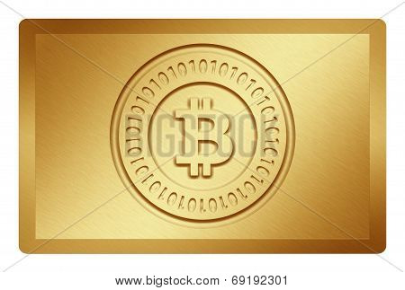 Golden Bitcoin Texture