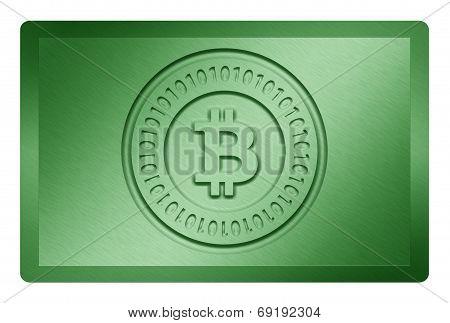 Green Bitcoin Metal Texture