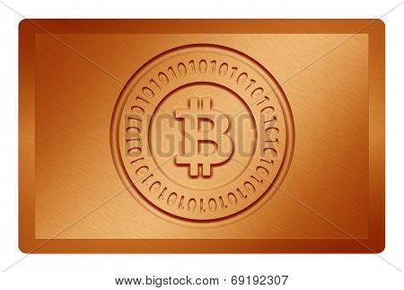 Orange Bitcoin Metal Texture