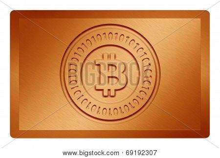 Orange Bitcoin Metal Texture