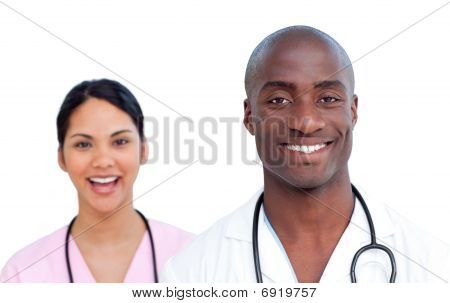 Portrait Of Two Self-assured Doctors