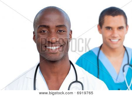 Portrait Of Handsome Male Doctors