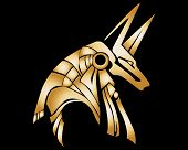 picture of anubis  - Egyptian Anubis Statue Vector Graphic Design by Tree - JPG