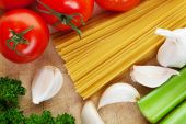 Spaghetti With Vegetables poster