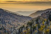 picture of gatlinburg  - Dawn in the Smoky Mountains National Park - JPG