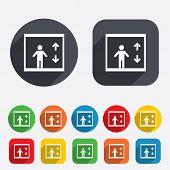 stock photo of elevator icon  - Elevator sign icon - JPG
